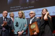 Gérard Collomb, Helen Scorsese, Martin Scorsese et Francesca Scorsese
