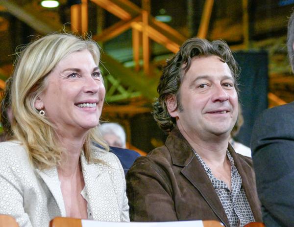Michèle Laroque et Laurent Gerra