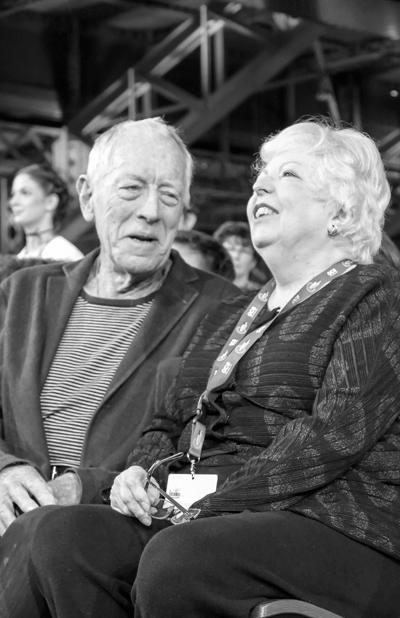 Max von Sydow et Thelma Schoonmaker
