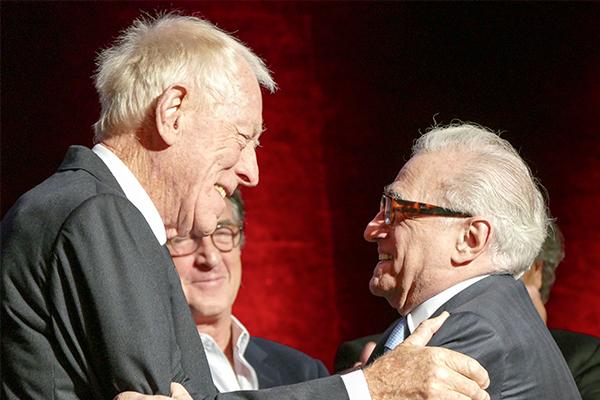 Max Von Sydow et Martin Scorsese