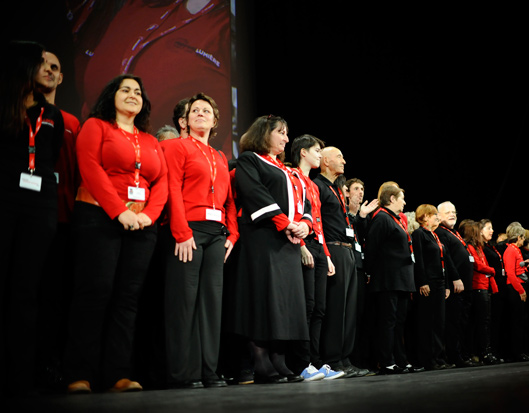 Volunteers at the Lumière festival, 2013